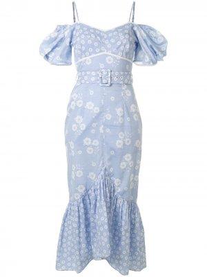 Платье миди Izabella Alice McCall. Цвет: синий