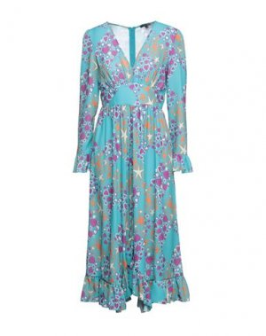 Платье миди DENNY ROSE. Цвет: бирюзовый
