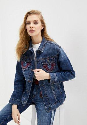 Куртка джинсовая True Religion Manchester. Цвет: синий