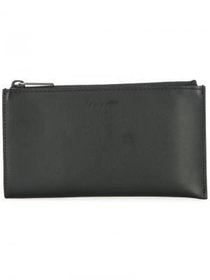 Удлиненный кошелек Yohji Yamamoto. Цвет: черный