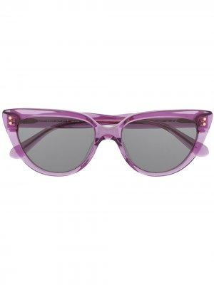 Затемненные солнцезащитные очки в оправе кошачий глаз Kate Spade. Цвет: фиолетовый