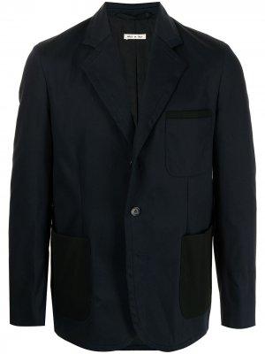Однобортный пиджак Marni. Цвет: синий