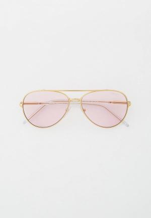 Очки солнцезащитные Prada PR 66XS ZVN01N. Цвет: золотой