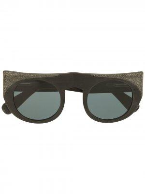 Солнцезащитные очки с прямым мостом Rigards. Цвет: черный