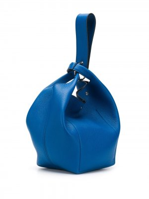 Сумка-тоут с ремешком-браслетом Elena Ghisellini. Цвет: синий