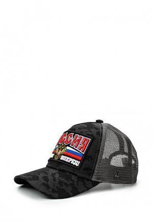 Бейсболка Atributika & Club™ Russia. Цвет: черный