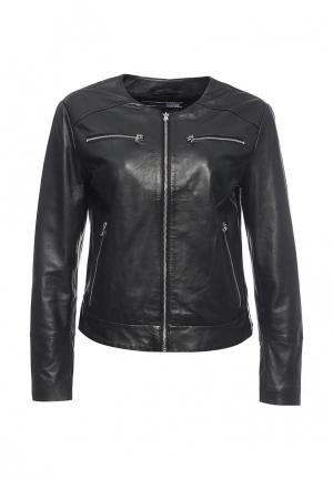 Куртка кожаная Sportmax Code SP027EWORD20. Цвет: черный