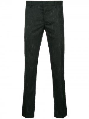 Классические брюки с мелким узором LANVIN. Цвет: черный