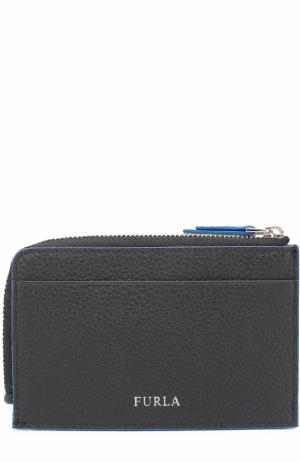 Кожаный футляр для кредитных карт с отделением монет Furla. Цвет: черный