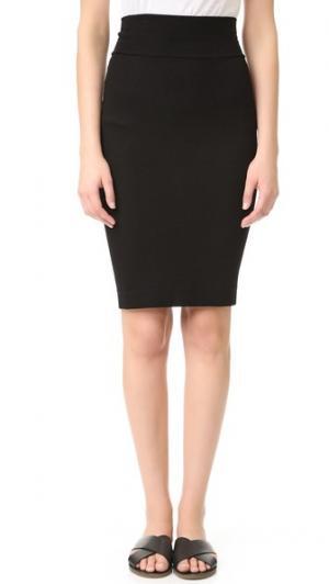 Rib Pencil Skirt Enza Costa
