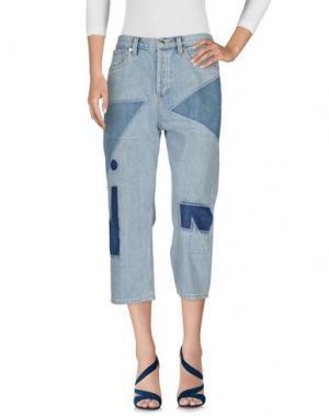 Джинсовые брюки-капри MARC BY JACOBS. Цвет: синий