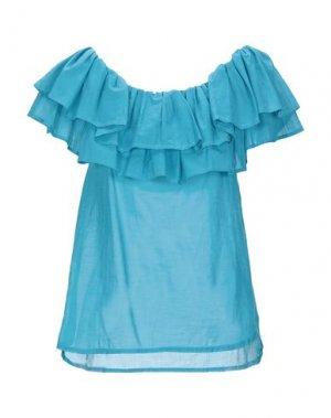 Блузка SOALLURE. Цвет: цвет морской волны