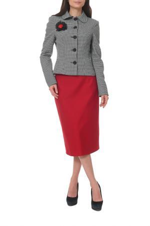 Комплект с юбкой Mannon. Цвет: черный, красный