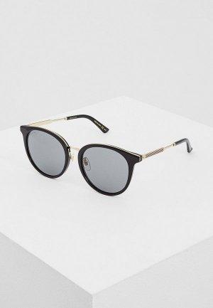 Очки солнцезащитные Gucci GG0204SK001. Цвет: черный