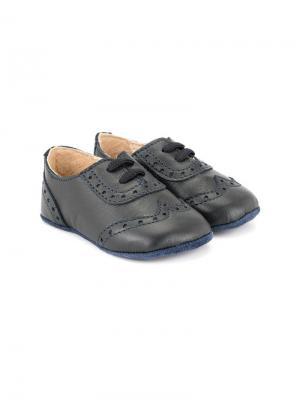 Броги на шнуровке Sonatina Kids. Цвет: черный