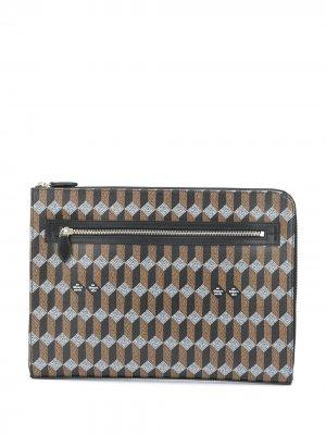 Сумка для ноутбука с монограммой Au Départ. Цвет: черный
