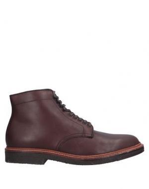 Полусапоги и высокие ботинки ALDEN. Цвет: баклажанный