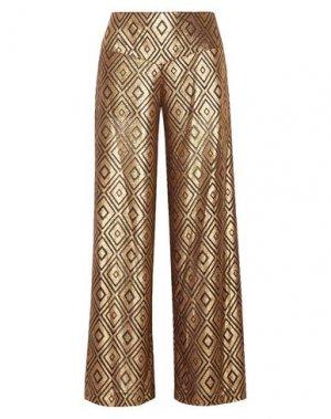 Повседневные брюки ANNA SUI. Цвет: золотистый