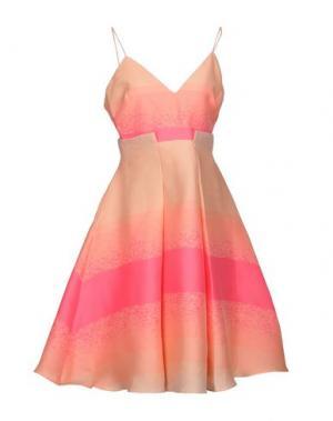 Платье до колена BADGLEY MISCHKA. Цвет: лососево-розовый