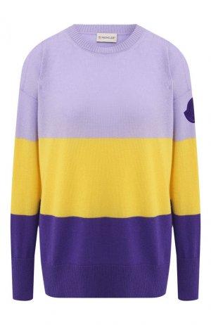 Кашемировый пуловер Moncler. Цвет: сиреневый