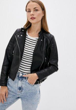 Куртка кожаная Befree Exclusive online. Цвет: черный