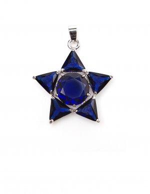 Подвеска-звезда с синими кристаллами Olga Soldatova