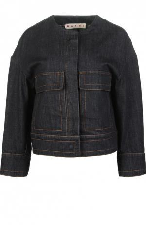 Джинсовая куртка Marni. Цвет: темно-синий