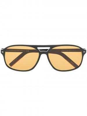 Солнцезащитные очки с затемненными линзами Ermenegildo Zegna. Цвет: черный