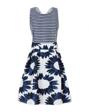 Платье до колена CARLA MONTANARINI. Цвет: синий