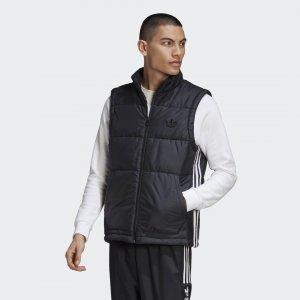 Утепленный жилет Puffer Originals adidas. Цвет: черный