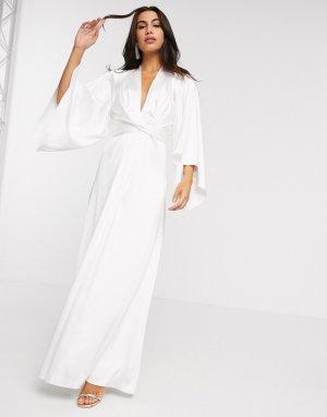 Свадебное платье макси цвета слоновой кости -Белый ASOS EDITION