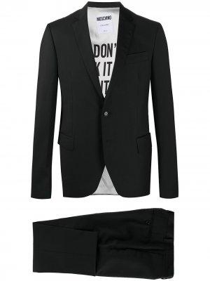 Костюм с однобортным пиджаком Moschino. Цвет: черный