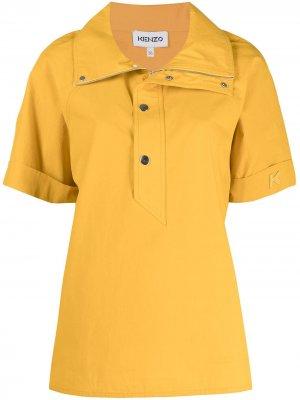 Рубашка поло с широким воротником Kenzo. Цвет: желтый