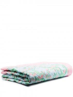 Стеганое одеяло с цветочным принтом Helmstedt. Цвет: синий