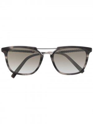 Tods солнцезащитные очки с двойным мостом Tod's. Цвет: черный