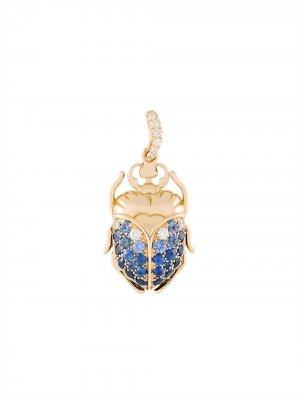 Кулон Scarab с сапфирами и бриллиантами Aurelie Bidermann. Цвет: золотистый