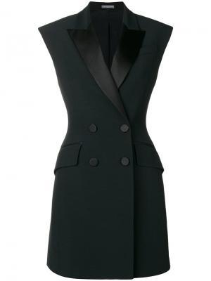 Платье-смокинг Alexander McQueen. Цвет: черный