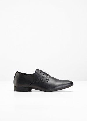 Мужские туфли со шнуровкой bonprix. Цвет: черный