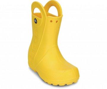 Резиновые сапоги детские CROCS Kids' Handle It Rain Boot Yellow (Желтый) арт. 12803. Цвет: желтый