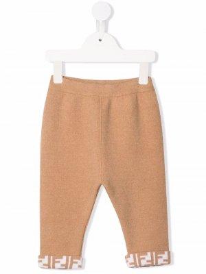 Спортивные брюки с логотипом Fendi Kids. Цвет: нейтральные цвета