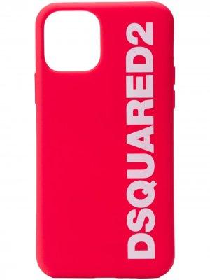 Чехол для iPhone 11 Pro с логотипом Dsquared2. Цвет: красный