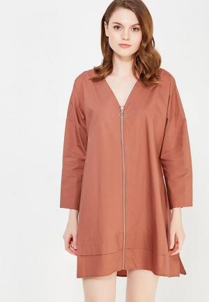 Платье Befree BE031EWUXS54. Цвет: коричневый