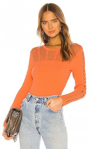 Пуловер solid Kenzo. Цвет: оранжевый