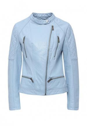 Куртка кожаная Pepe Jeans. Цвет: голубой
