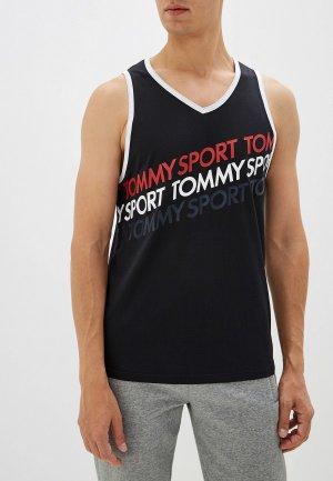 Майка спортивная Tommy Sport. Цвет: черный