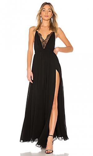 Вечернее платье justin Michael Costello. Цвет: черный