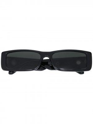 Солнцезащитные очки Diana в прямоугольной оправе Linda Farrow. Цвет: черный