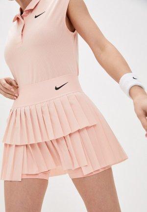 Юбка-шорты Nike W NKCT DF ADVTG SKIRT PLEATED. Цвет: розовый