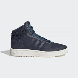 Баскетбольные кроссовки Hoops 2.0 Mid Performance adidas. Цвет: синий