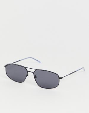 Черные солнцезащитные очки в квадратной оправе -Черный Tommy Hilfiger